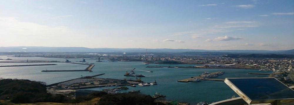 マリンタワーから見える小名浜漁港